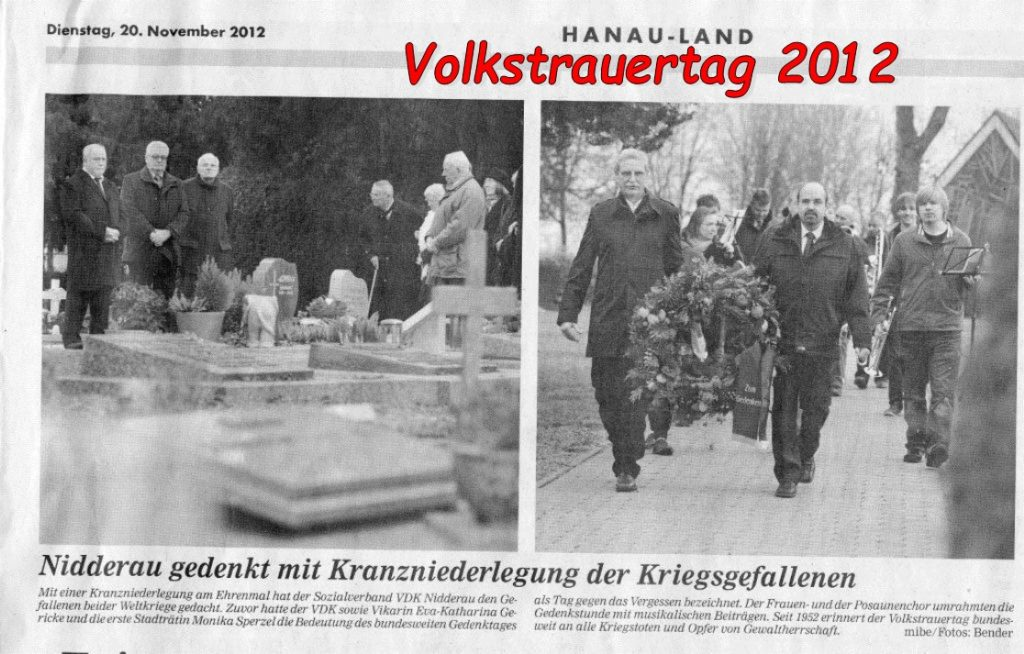 Volkstrauertag 2012